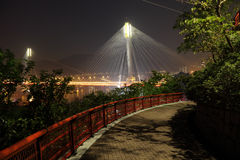Ting Kau Bridge at night Royalty Free Stock Image