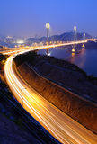 Ting Kau bridge at night Stock Image
