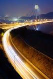 Ting Kau bridge at night Royalty Free Stock Images