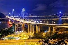 Ting Kau bridge at night Royalty Free Stock Photo