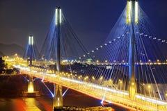 Ting Kau bridge at night Royalty Free Stock Image