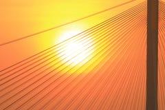 Ting Kau Bridge of the sun set Fotos de archivo