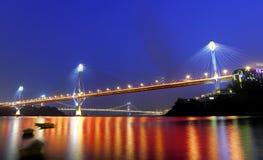 Ting Kau Bridge and Tsing ma Bridge Royalty Free Stock Photo