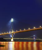 Ting Kau Bridge and Tsing ma Bridge at evening Stock Images