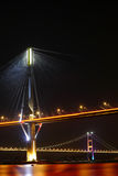 Ting Kau Bridge and Tsing ma Bridge at evening Stock Image