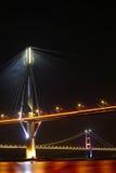 Ting Kau Bridge and Tsing ma Bridge at evening Stock Image