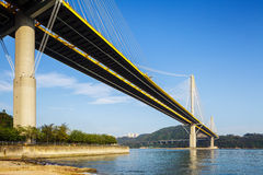 Ting Kau suspension bridge Stock Photos