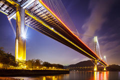 Ting Kau suspension bridge in Hong Kong Stock Photography