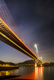 Ting Kau suspension bridge in Hong Kong Stock Photos