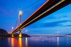 Ting Kau suspension bridge in Hong Kong Royalty Free Stock Photos