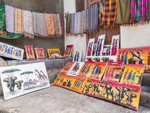 Tinga tinga obrazy w Kamiennym miasteczku, Zanzibar obrazy stock