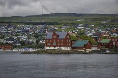 Tinganes Färöer Stockfotografie