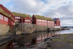 Tinganes, Torshavn, Ilhas Faroé, Dinamarca Imagem de Stock