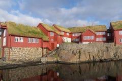 Tinganes, Torshavn, Ilhas Faroé, Dinamarca Fotos de Stock Royalty Free