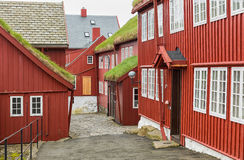 Tinganes Torshavn, isole faroe fotografia stock