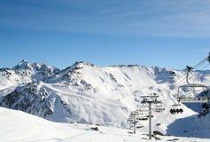 Tinge France da estância de esqui Fotografia de Stock