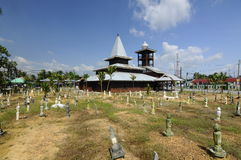 Tinggi清真寺或Banjar清真寺在霹雳州,马来西亚 免版税库存图片