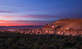 Tinghir Marocko soluppgång Arkivfoton