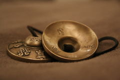 Tingsha von Tibet Stockbild