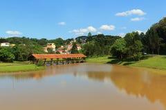Tingui公园,库里奇巴,状态巴拉那,巴西 免版税图库摄影