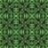Tinha desenhado o teste padrão verde linear do vetor ilustração royalty free