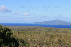 Tinian view from Mount Lasso 2. Tinian in the Mariana Islands.  View from Mt. Lasso looking north towards the island of Saipan Royalty Free Stock Photography