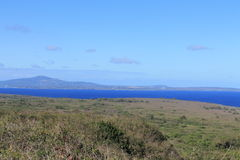 Tinian view from Mount Lasso 3. Tinian in the Mariana Islands.  View from Mt. Lasso looking north towards the island of Saipan Stock Photos