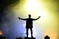 Tinie Tempah (English rapper) performance at FIB Festival stock photo