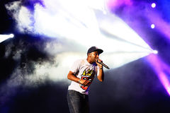 Tinie Tempah (English rapper) performance at FIB Festival Stock Image