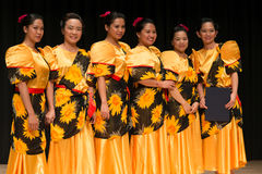 Tinikling Dance Competition - Busan filipino Stock Images
