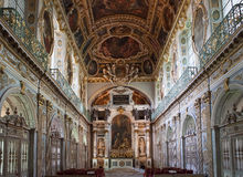 Tinity kapell, Chateau de Fontainebleau, Frankrike Arkivbild