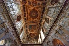 Tinity kapell, Chateau de fontainebleau, Frankrike Arkivbilder