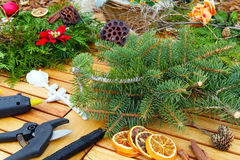 Tinker Advent arrangement. Advent arrangement, tinker grave Arrangement Stock Photography