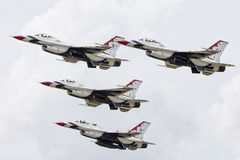 Tinker Air Force show in Oklahoma with Thunderbirds Stock Images