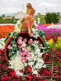 Tinker Bell on pot of flowers, Nakhon Ratchasima, Thailand royalty free stock photography
