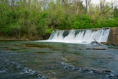 Tinker Creek Dam. On Tinker Creek located in Roanoke, Virginia, USA Stock Photos