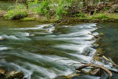 Tinker Creek Trout Stream. Located in the city of Roanoke, Virginia, USA Royalty Free Stock Photo