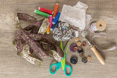 Tinker. Love to sew and craft stock photo