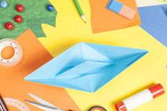 Tinker a paper boat Stock Images