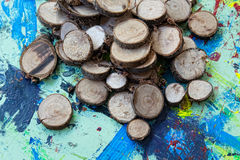 Tinker pieces of wood Stock Photography