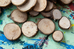 Tinker pieces of wood Stock Image