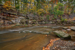 Tinker`s Creek Gorge. Beautiful autumn scene at the Tinker`s Creek Gorge near Cleveland Ohio Royalty Free Stock Photography