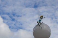 Tinkerbell装饰在迪斯尼乐园 免版税库存照片