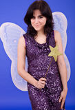 Tinkerbell. Young beautiful woman dressed as tinkerbell, studio picture Stock Photo