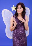 Tinkerbell. Young beautiful woman dressed as tinkerbell, studio picture Royalty Free Stock Images