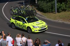 Tinkoff cycling team Stock Images