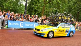 Tinkoff-Saxo team in the Tour de France Stock Image