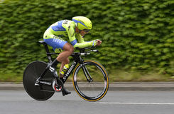 Tinkoff-Saxo's Professional Cycling Team  at Tour de Suisse 2015. Stock Photos