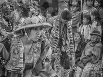 Tinku舞蹈在玻利维亚 免版税库存照片
