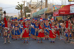 Tinku Dance Group - Arica, Chile Royalty Free Stock Photo